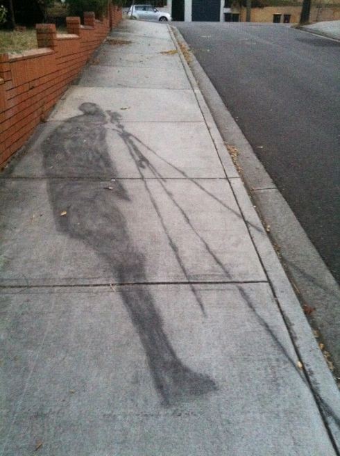 Spring Street Charcoal Street Art 2 - West End - {photo: alicia camenzuli}